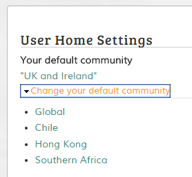 User Home settings