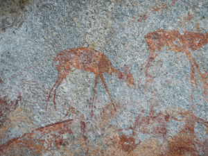 Common Duiker cave-painting